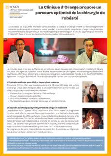 Journée mondial de l'obésité - Clinique d'Orange - Communiqué